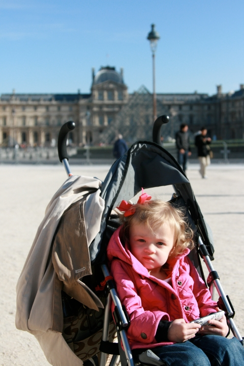 BabyHope outside the Louvre